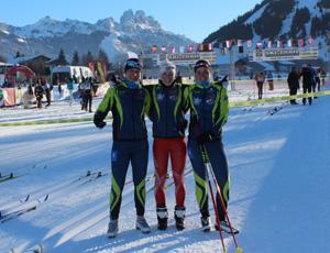 Die drei Damen bei -20°C vor dem Start
