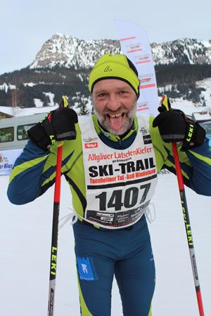 Peter erfolgreich und erleichtert im Ziel nach 35 km