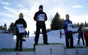Unsere Sieger auf dem Stockerl (Lukas, Max, Lukas)