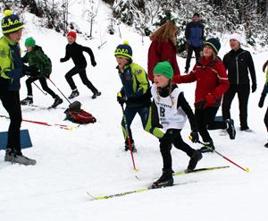 Julia bei ihrem ersten Rennen